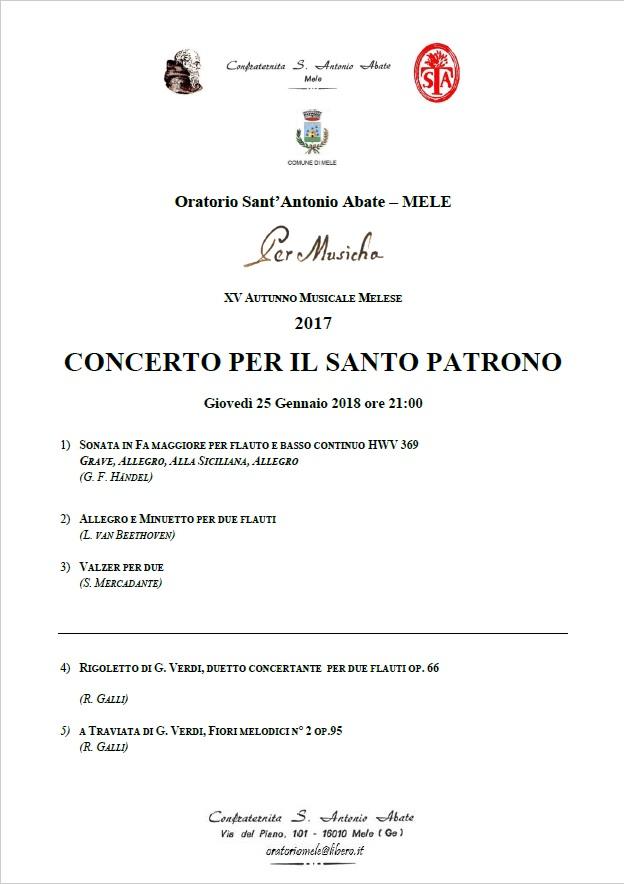 XV Rassegna Musicale 'Per Musicha' – Autunno Musicale Melese 2017