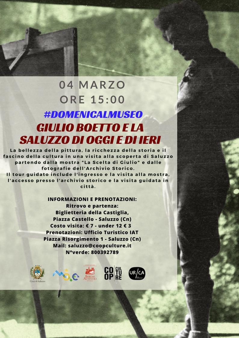 #domenicalmuseo a Saluzzo: Giulio Boetto e la Saluzzo di oggi e di ieri