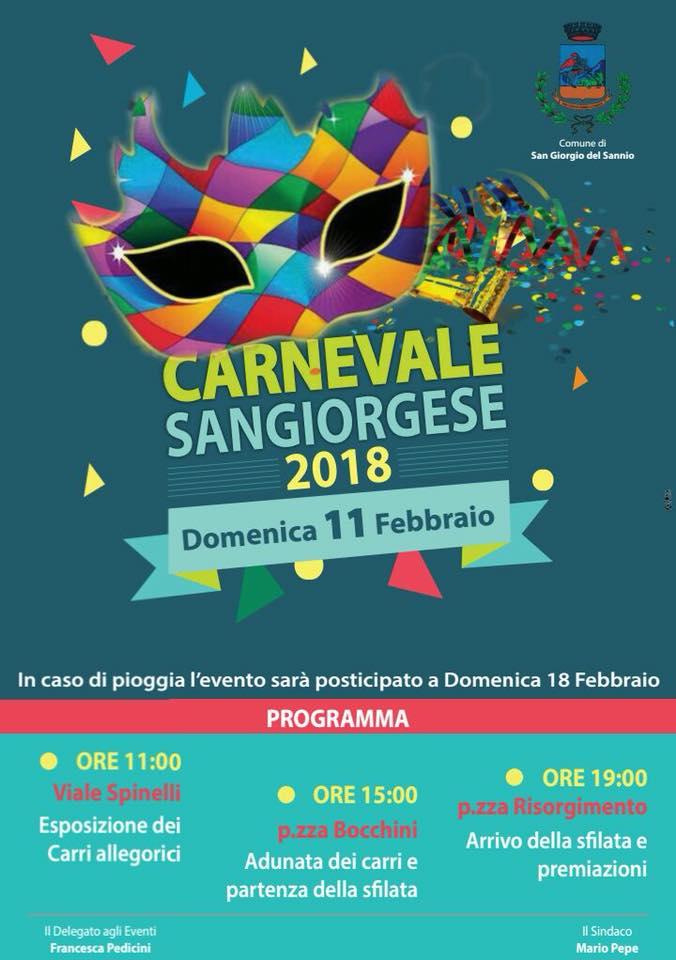 Carnevale a S. Giorgio del Sannio 2018
