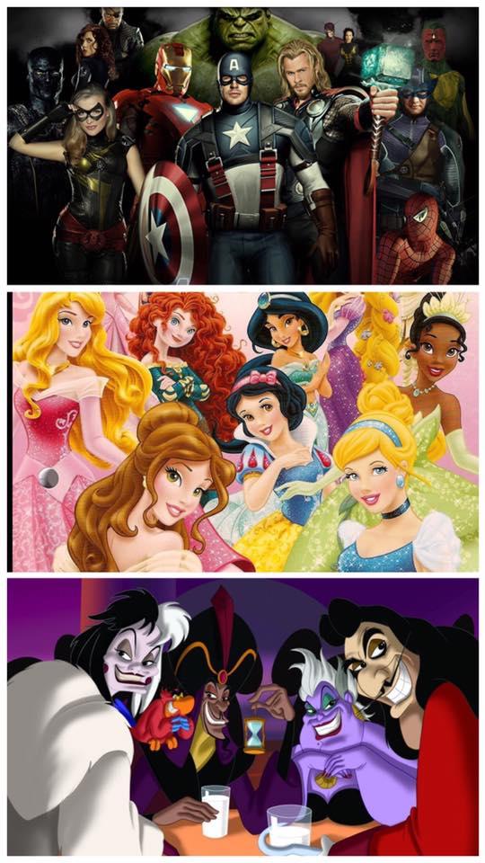 Supereroi e Principesse contro i Cattivi