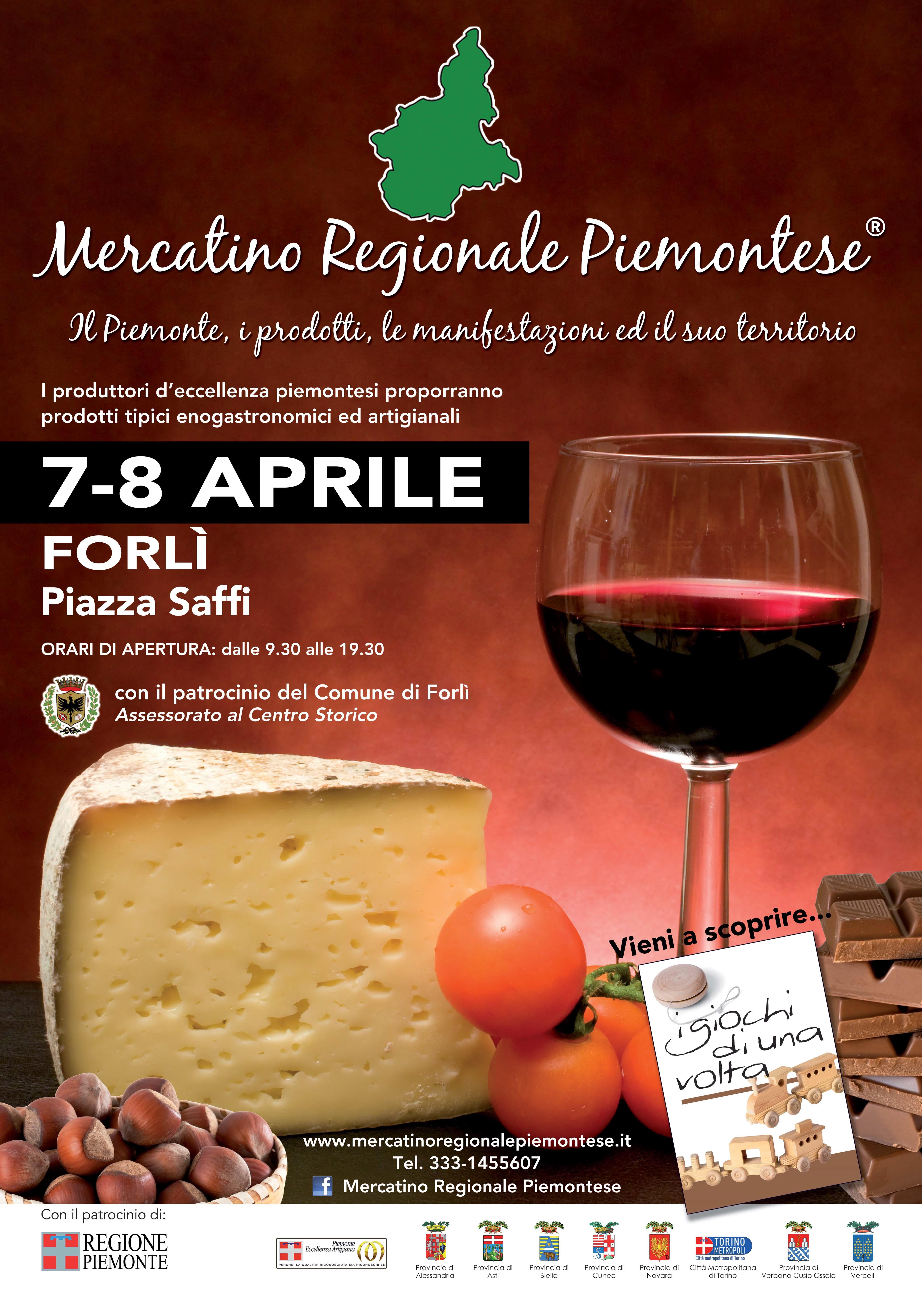 Mercatino Regionale Piemontese a Forlì