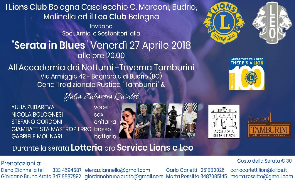 Serata in Blues - Evento di Beneficenza