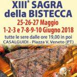 Sagra Della Bistecca 13^ Sagra Di Casalguidi: 3 Weekend Di Gusto