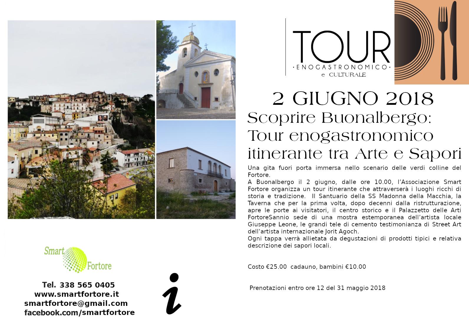 Tour enogastronomico itinerante tra arte e sapori