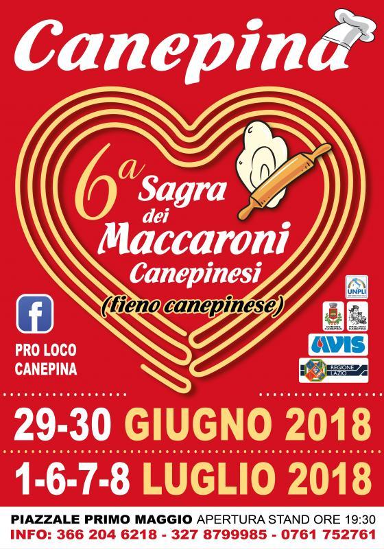 6° Sagra dei Maccaroni Canepinesi