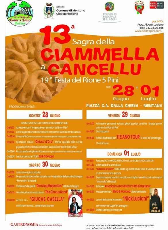 13° Sagra della Ciammella a Cancellu