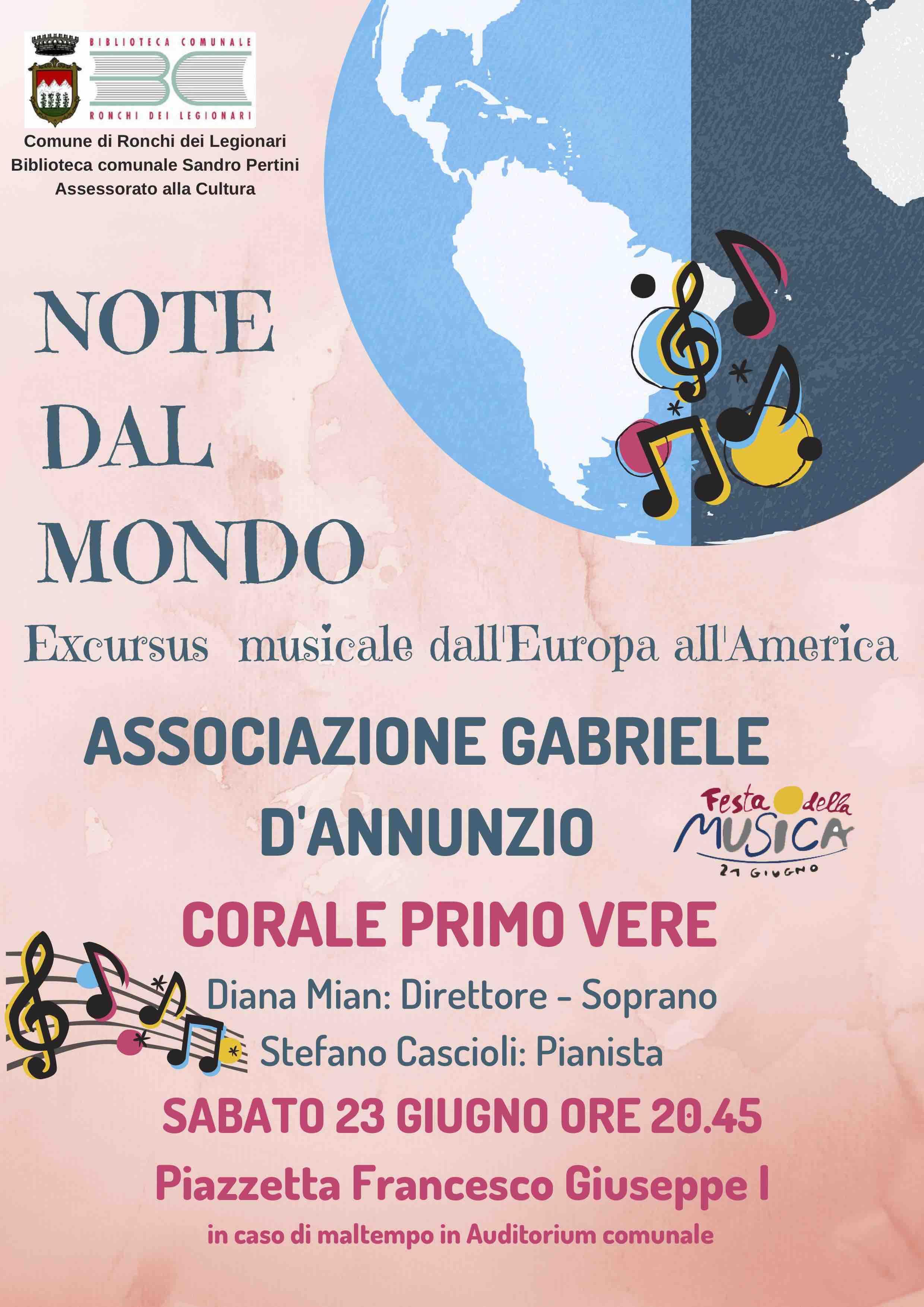 Note dal Mondo - Excursus musicale dall'Europa all'America